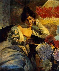 Evangelina Alciati (Torino, 1883 - Torino, 1959) La lettura (1905)
