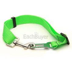 Cintura di Sicurezza per Cane Verde Regolabile 30-60cm in Auto