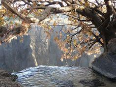 On the edge! Victoria Falls, Zambia