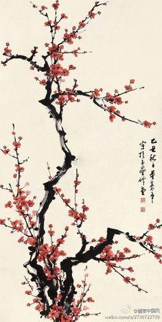 70 ideas japanese cherry blossom tree tattoo chinese painting Source by Summertrends. Blossom Tree Tattoo, Blossom Trees, Tattoo Tree, Chinese Painting, Chinese Art, Japanese Painting, Sakura Painting, Chinese Drawings, Tatoo Sakura