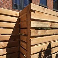 Clôture de bois sur mesure   Custom wooden fence  Clôture boucher, 450-516-0264