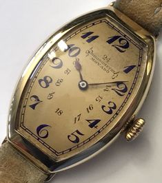 Rare Vintage 1920 MOVADO Chronometre *PETROGRAD* 18K Gold Curvex Art Deco Watch!   eBay