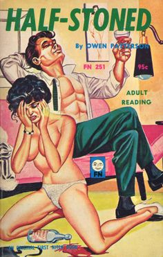 Half-Stoned. Funny Vintage Pulp Book Covers.