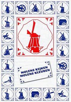 Kleurboekje 'Molens kijken, molens kleuren', Vereniging De Hollandsche Molen