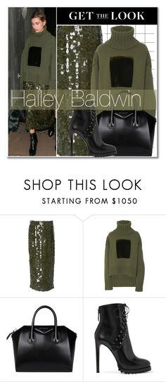 """""""Celeb Style:  Hailey Baldwin"""" by zhris ❤ liked on Polyvore featuring Sally Lapointe, Givenchy and Alaïa"""