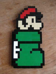 YES PLEASE- this Guy's etsy store is the bomb. :) LEGO custom kit: Super Mario Bros 3 Mario in Kuribo's Shoe. $30.00, via Etsy.