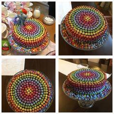 My Little Pony Birthday cake. Rainbow Dash cake for Ellis 4 years birthday. Chocolate cake filled with chocolate