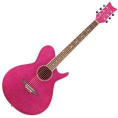 Daisy Rock Wildwood Atomic Pink Acoustic Guitar