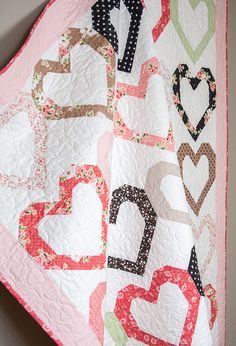 OPEN HEART QUILT with Olive's Flower Market fabric
