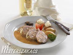 Hortobágyi pecsenye Baked Potato, French Toast, Pork, Potatoes, Beef, Baking, Breakfast, Ethnic Recipes, Kale Stir Fry