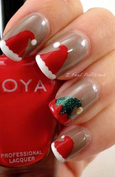 Simple nails art design ideas suitable for cold weather 19