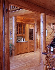 Wetbar | Luxurious log home situated on a lake lot in northe… | Flickr