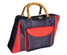 DOMINIO: Bag, Limited Collection, Red, Blue, Ostrich skin, Handmade Product, Made in Italy, limited edition, luxury, real leather, Borsa, edizione limitata, Rosso, Blu pelle di struzzo, vera pelle, lusso, prodotto artigianale, italia. Size can vary: 43cm x 32cm