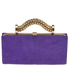Pre-owned Tod's Purple Suede Clutch ($140) ❤ liked on Polyvore featuring bags, handbags, clutches, tods purses, suede leather handbags, suede handbags, purple suede handbag and tod's
