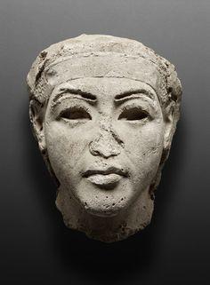 Gypsum model of a king. Historical Dating: Amenhotep (Amenophis) IV / Akhenaten. © Foto: Ägyptisches Museum und Papyrussammlung der Staatlichen Museen zu Berlin - Preußischer Kulturbesitz