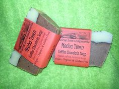 Mocha Town Coffee and Chocolate Soap Natural Hand Crafted, Vegan, Organic and Gluten Free Chocolate Coffee, Mocha, Home Crafts, Usb Flash Drive, Artisan, Gluten Free, Soap, Organic, Vegan