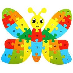 New Educational Funny Wooden Animals Kid Children Toy Alphabet Puzzle Jigsaw Gift