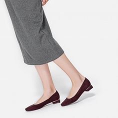 Burgundy Faux Suede Pumps   CHARLES & KEITH