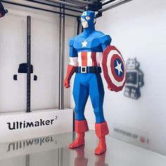 Something we liked from Instagram! Low Poly Superhero by @biglildesign.  This design was inspired by Marvel's classic superhero Captain America. Download this amazing 3D model on cults3d.com (on the home page). #3dprinting #3dprinted #3dprinter #characterdesign #captainamerica #superhero #marvel #3dmodel by cults3d check us out: http://bit.ly/1KyLetq