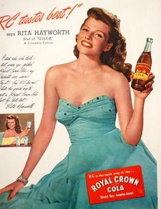 ladylikelady:  Vintage ad: Coca cola- Rita Hayworth