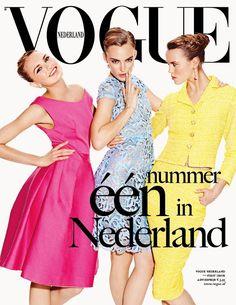 Vogue Netherlands April 2012 Cover   Ymre Stiekema, Josefien Rodermans & Romee Strijd by Marc de Groot
