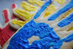 bake sale idea - hand print biscuits!