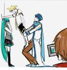 Kaito is such a bro. Hatsune Miku, Kaito Shion, Kaai Yuki, Vocaloid Characters, Anime Watch, Mikuo, Draw The Squad, Expectation Vs Reality, Mundo Comic