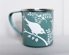 Our fabulous new enamel mugs from #Nkuku #fairtrade. Enamel-Mugs-Handpainted-Fairtrade-Mugs-Camping-Picnics-Festivals
