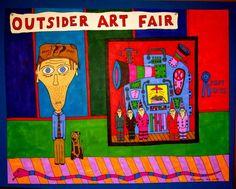 Mit «Alcoholic Outsider Recovery Insane Art» bezeichnet der 1958 geborene, gemäss seiner Aussage, ursprünglich alkoholkranke Parker Lanier, seine Arbeit.