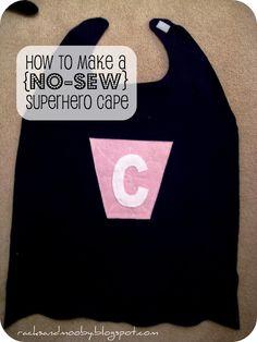 RACKS and Mooby: How To Make a Superhero Cape {no sew!}.