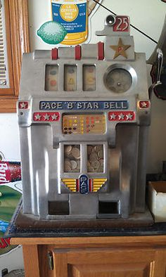 1949 PACE 25 CENT COIN ANTIQUE SLOT MACHINE #antiqueslotcoinmachine