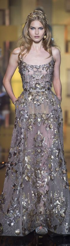 ❖ The Golden Girl with a sliver of Silver ⚡️ {gold&silver} ⚡️ Elie Saab FW 2015 couture