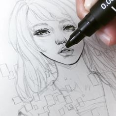Margaret Morales is a visual designer, painter and watercolor artist from Philippines. Pencil Art, Pencil Drawings, My Drawings, Watercolor Artist, Character Sketches, Realistic Drawings, Anime Sketch, Beautiful Drawings, Drawing Techniques