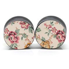 Light Florals Ear Gauges