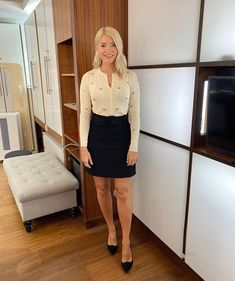 """Love Holly Willoughby on Twitter: """"Morning Tuesday! 🌼 @hollywills @thismorning… """" Holly Willoughby Skirt, Holly Willoughby This Morning, This Morning Fashion, Zara Cardigan, Hottest Female Celebrities, Rainbow Fashion, Urban Fashion, Mini Skirts, Skirt"""