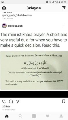 Dua when making on-the-spot decisions Hadith Quotes, Muslim Quotes, Religious Quotes, Quran Quotes Inspirational, Beautiful Islamic Quotes, Prayer Verses, Quran Verses, Islamic Teachings, Islamic Dua