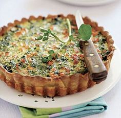 Salmon and watercress quiche from La Tartine Gourmande: Recipes for an Inspired Life by Béatrice Peltre