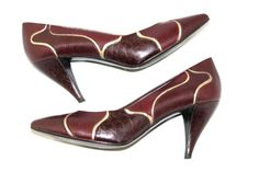 SALE Vintage Leather Heels by Nina. 60s Tapered by ChickClassique, $36.00