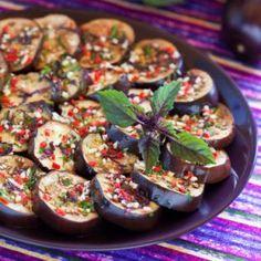 Cumin Roast Aubergines with Chilli & Mint | Anjali Pathak