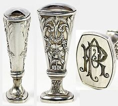 Antique French Sterling Silver Wax Seal, Sceau, R P Monogram (my Dad's initials) - or P R