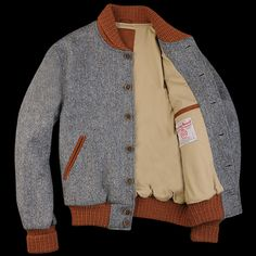 UNIONMADE - UNIONMADE Harris Tweed - Golden Bear Varsity in Blue Donnegal