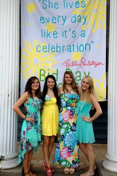 lilly bid day ~ yes please! ♥