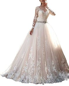 Cardol 2017 Women's Lace Wedding Dresses Bridal Gowns Lon...
