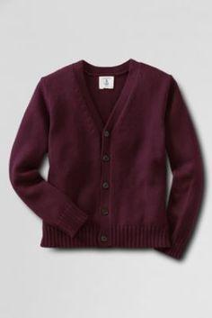 School Uniform Button-front Drifter Cardigan Sweater from Lands' End