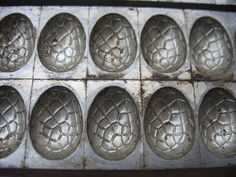 Antique ANTON REICHE German Chocolate Easter Eggs~Candy Mold NO 5582