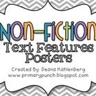 This packet contains colorful posters to teach 16 non-fiction text features to teach informational text!  -guide words -title page -table of conte...