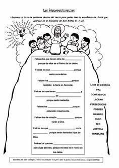 El Rincón de las Melli: Las Bienaventuranzas (Juego)