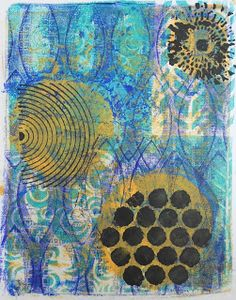 """All that Glitters Scrapbooking -- using the Balzer Designs """"Blazonry"""" stencil"""