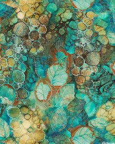 Tree of Wisdom - Silent Stream - Teal - DIGITAL PRINT Quilt fabric online store Largest Selection, Fast Shipping, Best Images, Ship Worldwide Fallen Leaves, Autumn Leaves, Persuasion Movie, Kerry Darlington, Moonage Daydream, Bookshelves In Living Room, Leaf Images, Thing 1, Aesthetic Colors