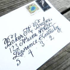 Learn how to create envelope calligraphy for your upcoming celebration or just because. Great tips and advice!